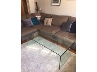 Glass Dining Table - Curved One Piece Design