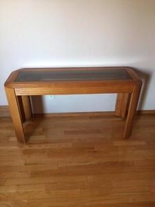 Oak with Glass Coffee Tables