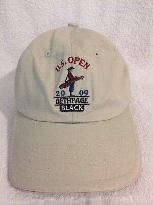 US Open 2009 Bethpage Black Golf Cap Hat Adjustable Tan 100% Cotton USGA  Member fbb502f8c0f0