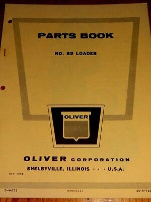 Oliver Parts Book No.89 Loader