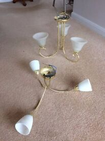 Ceiling Lights Brass Effect