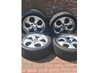 "ML / VW T5/ Range Rover 20"" Wheels. 4 tyres & alloys in very good cond. £700.00 o.n.o."