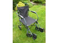Lightweight Folding Travel Wheelchair AS NEW