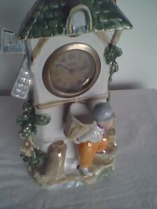 Antique Porcelain Windmill Clock Made in Germany