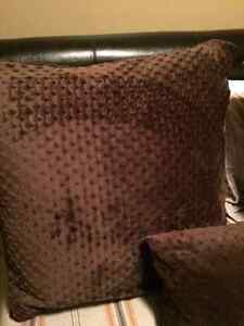 NYGARD Brown Euro Shams, pillow and Throw