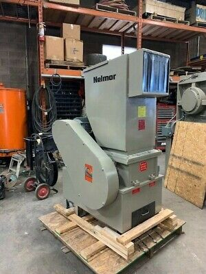 Nelmor 1215 12 X 15 Plastic Granulator 3 Knife Closed Rotor 15hp