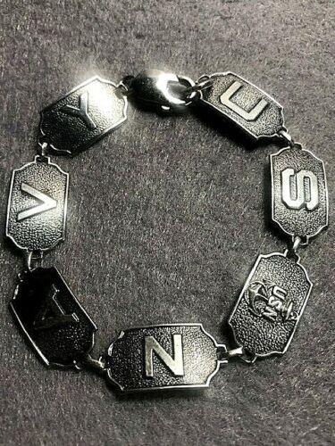 Vintage Sterling Silver United States Navy Sweetheart Bracelet 18.5cm 15 grams