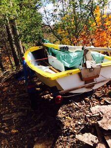 14 foot Sailboat and trailer