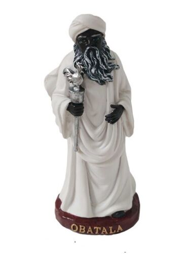 "5"" Orisha Obatala Statue Santeria Yoruba Lucumi 7 African Powers"