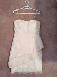 J.Crew Peplum Lace Cocktail Length Bridal Dress - Priced to sell