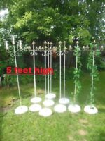 wedding/shabby chic decor 5' tall candle holders. (only 4 left)