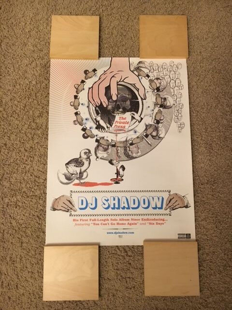 DJ SHADOW 2002 PROMO POSTER! OUT OF PRINT! (KRUSH, TRIP HOP, BEATS)