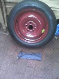 Suzuki sx4 spare wheel (space saver) and wheel brace