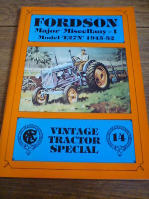 FORDSON MAJOR MISCELLANY 1 MODEL E27N 1945-52  VINTAGE TRACTOR SPECIAL BOOK  for sale  Shipping to United States