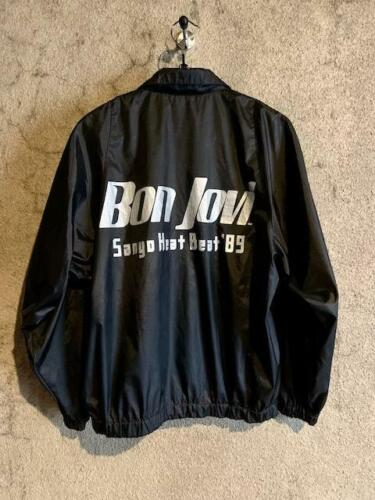 Vintage BON JOVI sanyo heat beat 89 band tour festival jacket size L