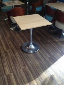 BRILLIANT Coffee Square Table Ideal for cafe 60cm x 60cm (x 3 available)