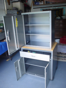 Metal storage cabinets with keys