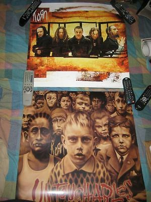 KORN-(untouchables)-24X24 POSTER-2 SIDED-MINT-RARE