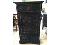 Unusual Hand Made Carved Wood African Cupboard