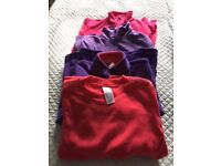 Girl's fleece tops x4 age 9-10 in pink and purple