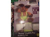 Bunny cuddly Toy knitting set brand new