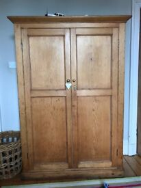 Original antique pine wardrobe