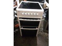 £96.89 Beko ceramic electric cooker+50cm+3 months warranty for £96.89
