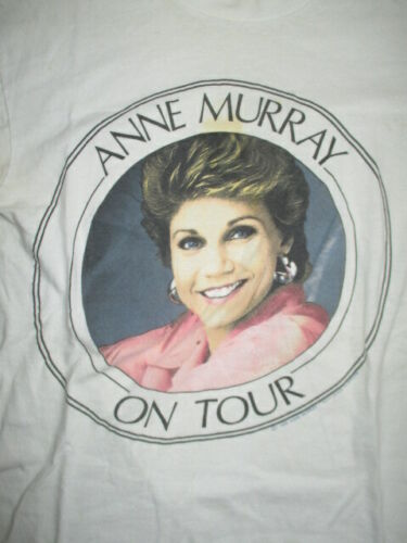 """1989 ANNE MURRAY """"On Tour Greatest Hits Volume II"""" Concert (SM) T-Shirt"""