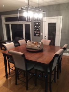 Solid Wood Table  & 8 Chairs