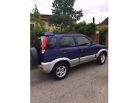 DIAHATSU TERIOS EL 2002 67000 miles 5 door hatchback 1300cc 4x4 Very Good Condition MOT November