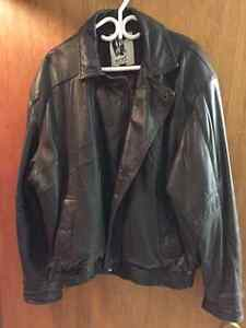 size 42 men's leather jacket