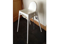 IKEA White Plastic HighChair High Chair (Worth £9 new)