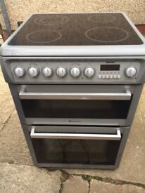 £124.76 Hotpoint grey ceramic electric cooker+60cm+3 months warranty for £124.76