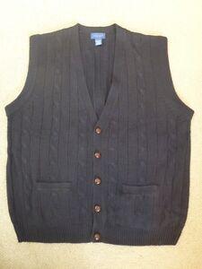 NEW Mens Beautiful Navy Cable Knit Vest XXL Tall XXLT
