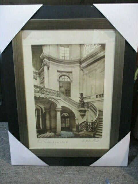 "Vintage ""Grand escalier"" Paris Scene Frame Print By Grace Feyock"
