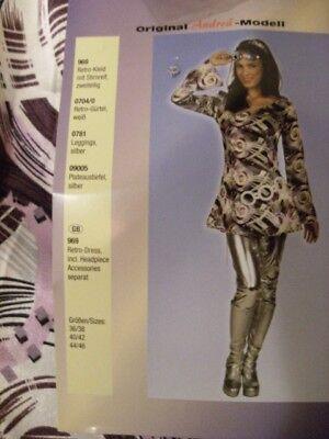 Tolle Tunika im Retro Stil für Damen Kostüm, Größe 40 42 Kleid Karneval 60-80´er