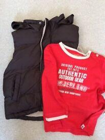 Timberland Boys Gilet & T shirt Bundle Age 3