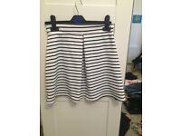 Size 8 Boohoo Stripe Skirt