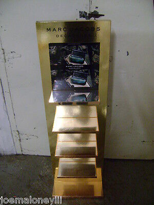 Gold Marc Jacobs Decadence 4 Shelf Retail Perfume Cosmetics Display
