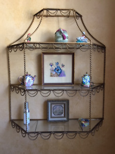 Vintage Display shelf for bathroom or hallway