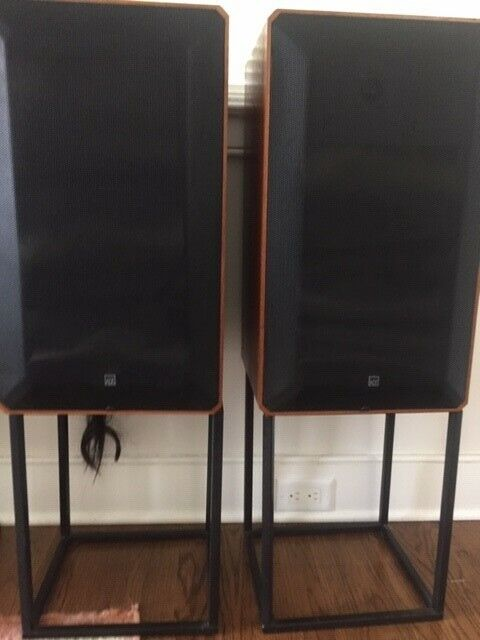 ADS L780 High Fidelity Speakers with black metal stands - excellent condition