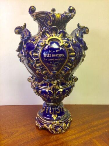 Antique Sevres Porcelain Anniversary Vase