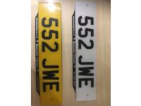 Private registration number plates for sale. Excellent condition. Full registration paperwork