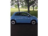 FIAT 500 COLOUR THERAPY BLUE - STUNNING CAR - IDEAL RUNAROUND / 1ST CAR - CHEAP INSURANCE AND TAX