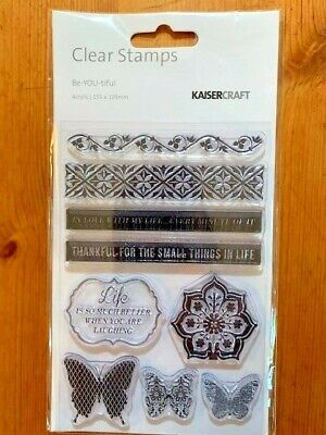 Kaisercraft Be-YOU-tiful Clear Stamp Set - 155mm x 105mm, 9 stamps, CS180