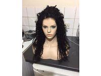 22inch tight curl virgin Malaysian full lace wig, 200% heavy density