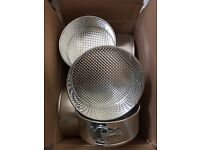 Box of Vogue 20 & 22cm cake tins- new