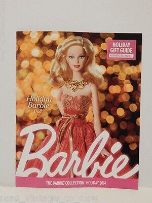 Barbie Collection Catalog Magazine Holiday 2014 Collector Mattel Doll Collecting