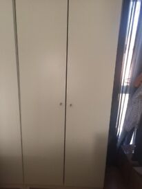 White Wardrobe 2 doors