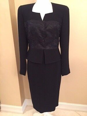 ZELDA from Saks Fifth Ave.Black Dressy Skirt Suit, Size 8